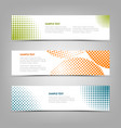 collection banners with color abstract halfone vector image vector image