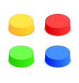 colorful 3d button collection elements for modern vector image vector image