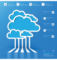 Communication Connection Cloud Shape Business vector image vector image
