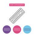 contraception pills icon vector image