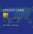 credit card converted vector image vector image