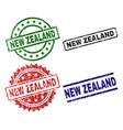 damaged textured new zealand stamp seals vector image