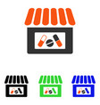 drugstore flat icon vector image