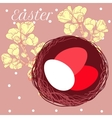 Easter eggs in nest vector image vector image