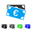 euro banknotes flat icon vector image vector image