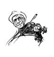 fiddler vector image