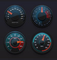 futuristic car speedometers speed indicators vector image