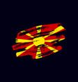grunge textured macedonian flag vector image vector image