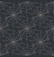 halloween spider web seamless pattern vector image vector image