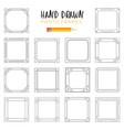 hand-drawn frames vector image vector image