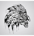 hand drawn Tattoo Native American Indian chief vector image