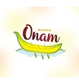 Happy onam festival vector image