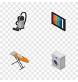 isometric technology set of vac cloth iron vector image vector image