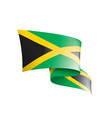 jamaica flag on a white vector image vector image