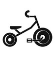 kid tricycle icon simple style vector image vector image