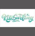 kitesurfing lettering logo in graffiti style vector image vector image
