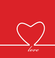 love heart red vector image