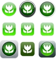 Macro green app icons vector image vector image