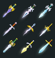 magic swords isolated set vector image vector image