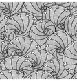 Marine seamless pattern with stylized seashells vector image vector image