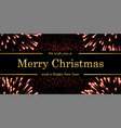 marry christmas and happy new year card magic red vector image
