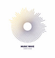 modern poster sound wave vector image vector image