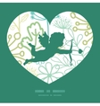 mysterious green garden shooting cupid vector image