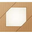 Paper banner on the cardboard background vector image vector image