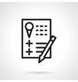 Party checklist black line icon vector image vector image