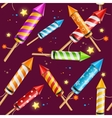 Party Rocket Fireworks Background Pattern vector image vector image