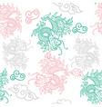 pattern with japan dragons vector image vector image