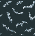 polygonal bat seamless pattern geometric bat vector image vector image