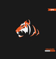saber tooth tiger logo vector image vector image