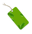 sale tag with leaf vector image vector image