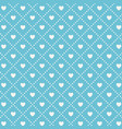 seamless pattern with hearts holiday repeating vector image vector image