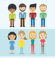 set avatars of men and women of different vector image vector image