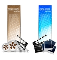 Set of banners with cinema element vector | Price: 1 Credit (USD $1)