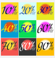 set of sticker sale template vector image vector image