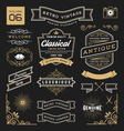 set retro vintage graphic design elements vector image vector image