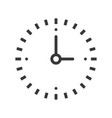 simple clock icon pixel perfect design editable vector image vector image