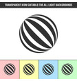 simple outline transparent abstract striped ball vector image vector image