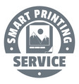 smart printing service logo simple style vector image