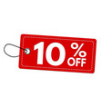special offer 10 off label or price tag vector image vector image