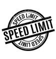 speed limit rubber stamp vector image vector image
