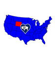 state of wyoming vector image vector image