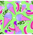 summer seamless bright pattern with ice cream vector image
