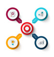 target with arrows template for cycle vector image vector image