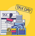 tax payment concept vector image vector image