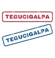 Tegucigalpa Rubber Stamps vector image vector image