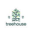 tree root house home mortgage logo icon vector image vector image